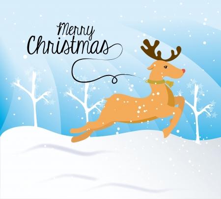 chunk: christmas design over snowscape background vector illustration