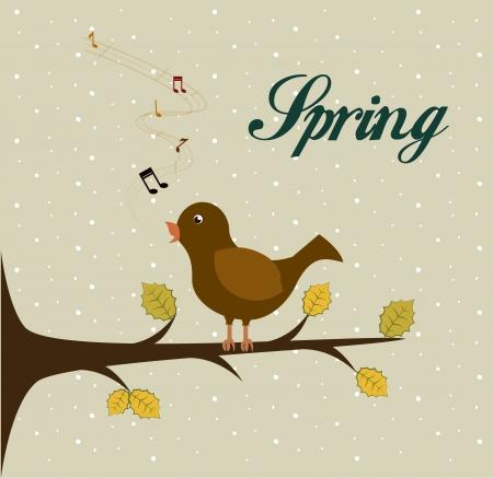 time over: spring time over  dotted background vector illustration   Illustration