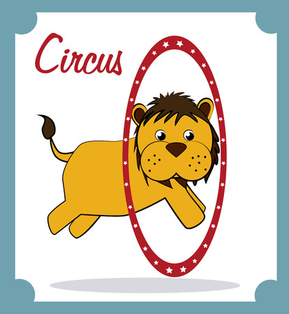 circus design over white background vector illustration Vector