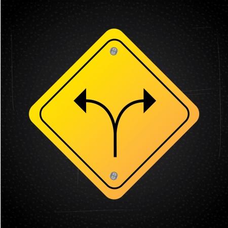 designator: flechas de dise�o sobre fondo negro ilustraci�n vectorial Vectores