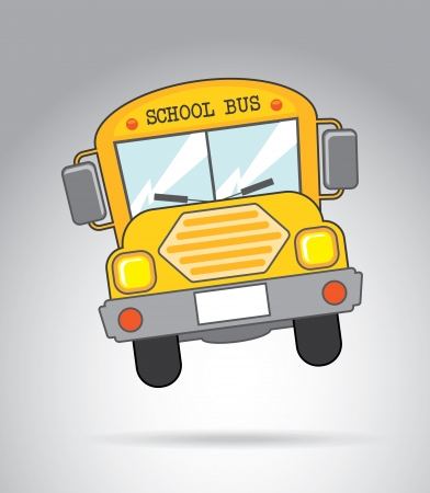 school bus icon over gray background vector illustration  Vector