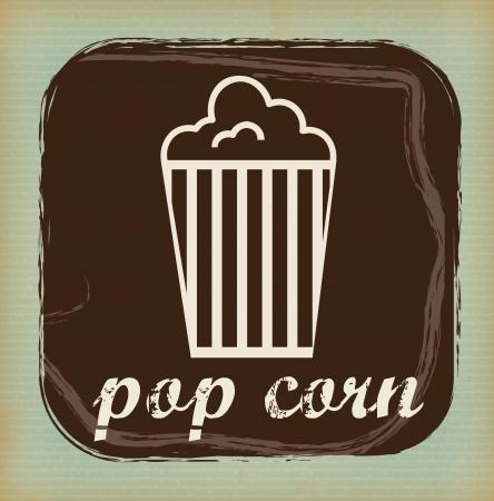 pop  corn design over grunge background vector illustration  Vector