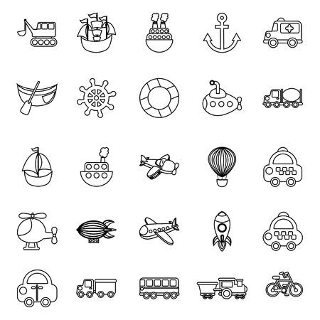 transport design over white  background vector illustration Vector