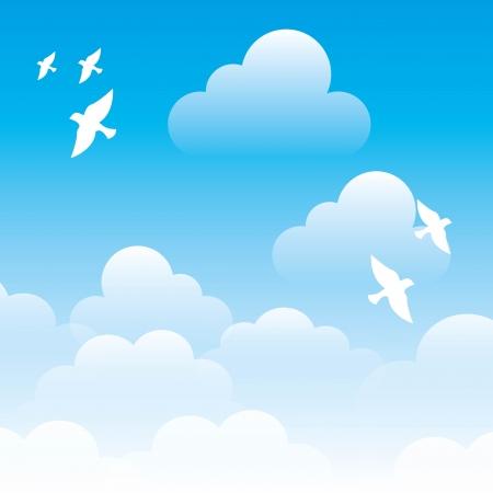 firmament: sky design over blue background vector illustration Illustration
