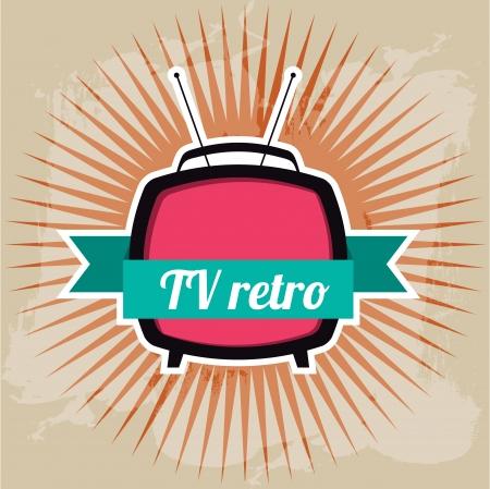 diversion: tv retro design over grunge background vector illustration Illustration