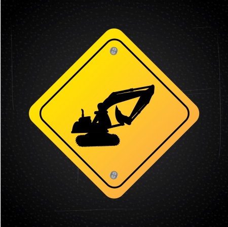 danger signal over black background  vector illustration Stock Vector - 23762031