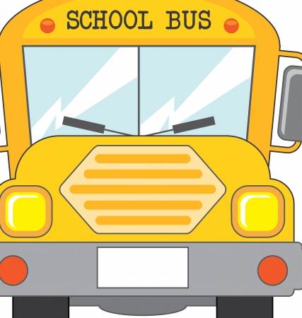 school bus icon over white background vector illustration  Vector