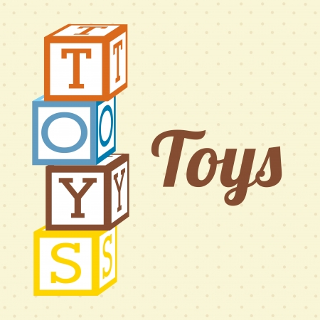 toys icons over dotted  background vector illustration  Vector