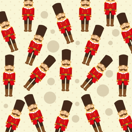 toy soldier: toy baby design over pink background vector illustration