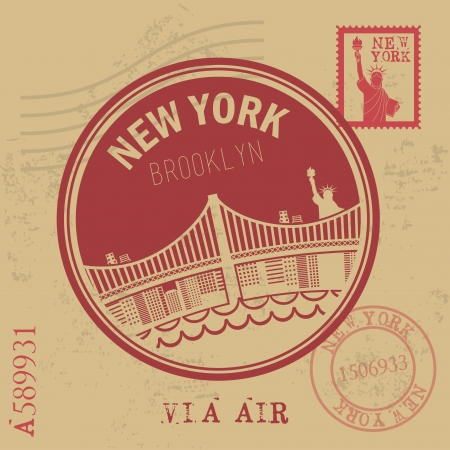 new york design over vintage background vector illustration Vector