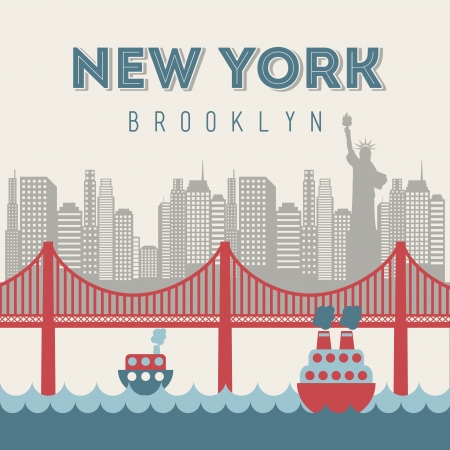 new york design over beige background vector illustration Vector