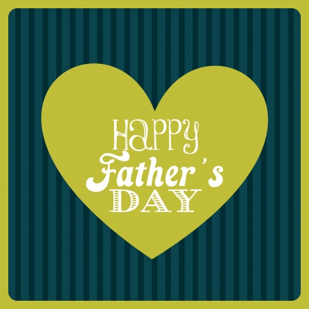 fathers day design over lineal background vector illustration Vector