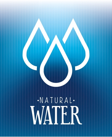 save the sea: natural water over blue background vector illustration Illustration