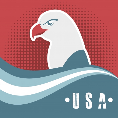 usa design over red background vector  illustration Vector