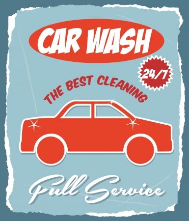 car wash over blue background vector illustration  Vector