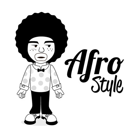 afro style design over  white background vector illustration   Vector