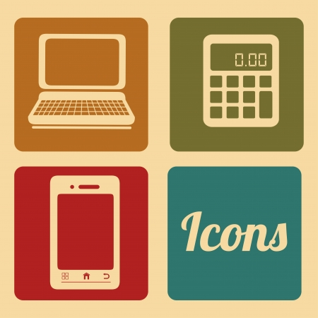 web icons over cream background vector illustration Stock Vector - 23762532