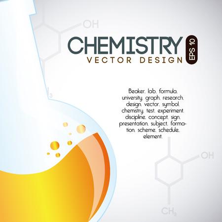 química sobre fondo gris ilustración vectorial