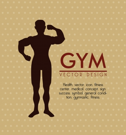 gym  design over dotted background vector illustration  Vector