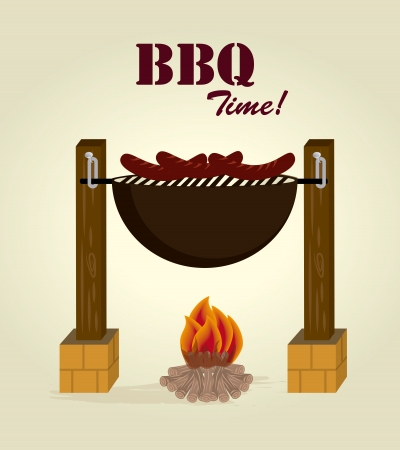 bonfire design over beige background  vector illustration Stock Vector - 23762704