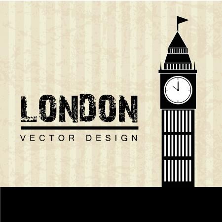 london design over lineal background vector illustration Illustration
