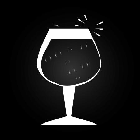 soda splash: wine design over black background vector illustration