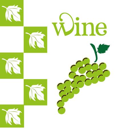 grapes design over white background vector illustration  Vector