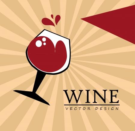 soda splash: wine design over pink background vector illustration  Illustration