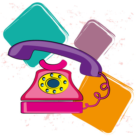 old phone over white background vector illustration  Stock Vector - 23762896