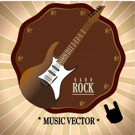 rock design over  grunge background vector illustration  Vector