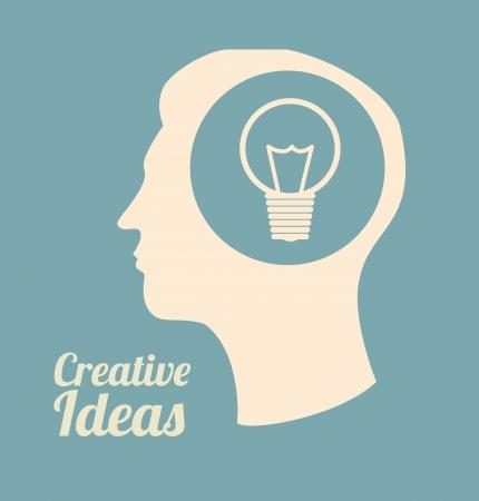 skulp: creative ideas design over  blue background vector illustration