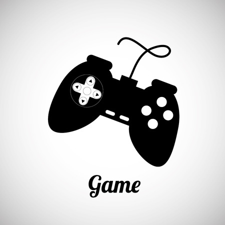 the game is over: game control over gray background vector illustration Illustration