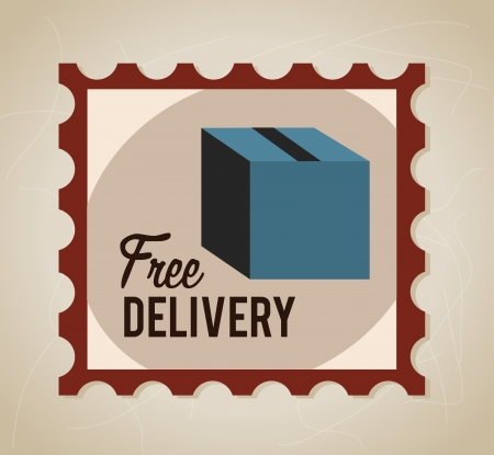 Delivery icons with box over lines background vector illustration Stock Vector - 23763069