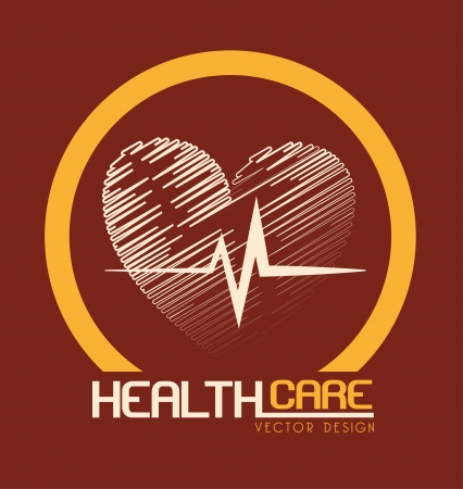 health care design over beige background vector illustration Stock Vector - 23763073