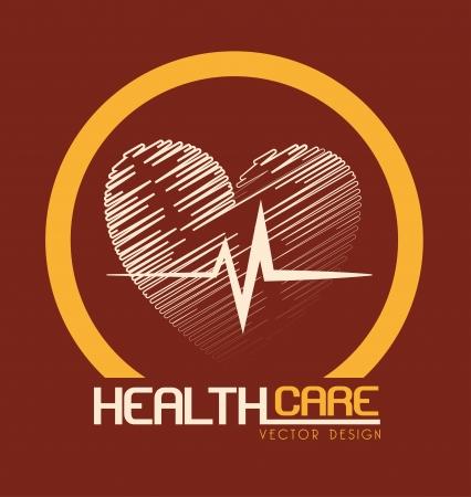 health care design over beige background vector illustration Stock Vector - 23763073
