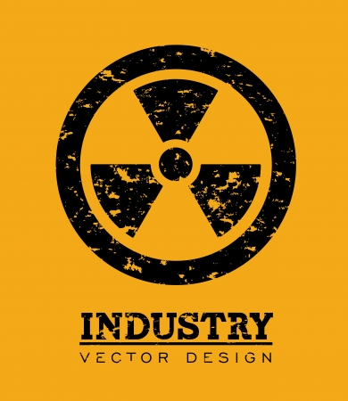 atomic signs over orange background vector illustration Stock Vector - 23763078