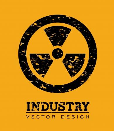atomic signs over orange background vector illustration Stock Vector - 23763078