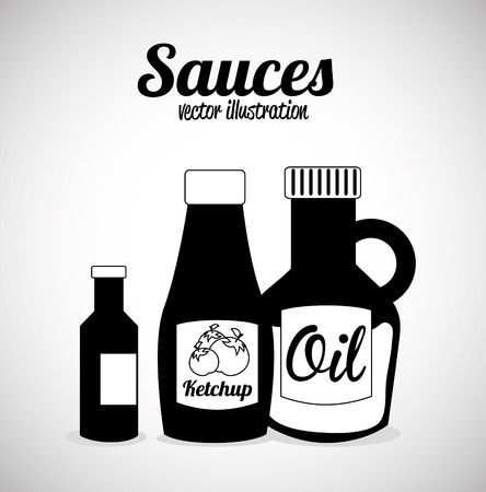 sauces: sauces design over gray background vector illustration
