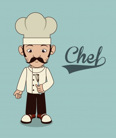 chef icon over blue background  vector illustration Vector