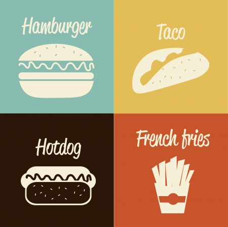 fast food design over colors background vector illustration Vector