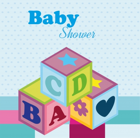 baby design over dotted  background vector illustration    Vector