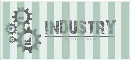 industry design over lineal background vector illustration  Vector