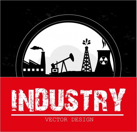 gas plant: industry design over black background vector illustration  Illustration