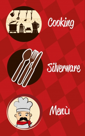 menu design over red background vector illustration  Vector