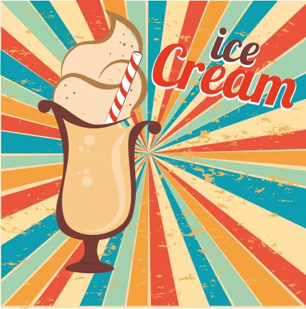 ice cream design over grunge background vector illustration  Vector