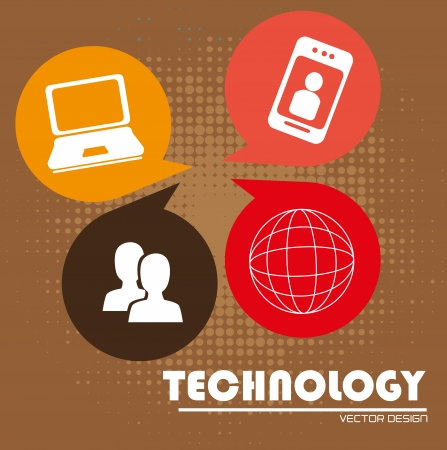 advanced technology: advanced technology over brown background vector illustration Illustration