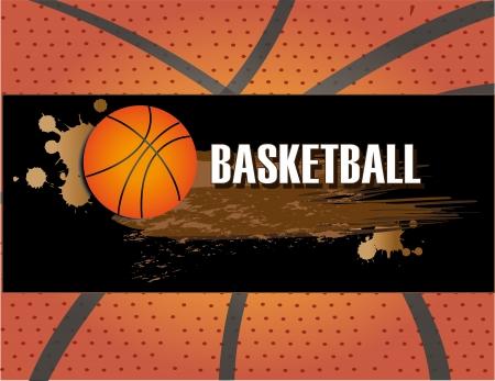 professional basketball league: basketball design over pattern background vector illustration