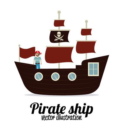 piraat ontwerp op een witte achtergrond vector illustratie