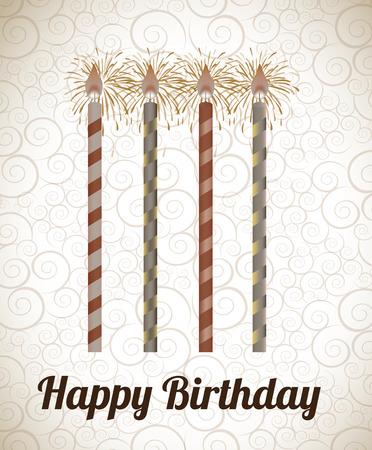 birthday  design over pattern backgrund vector illustration  Stock Vector - 23998252