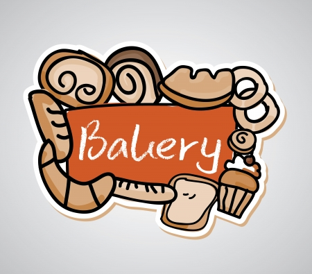 bakery design over gray background vector illustration   Vector